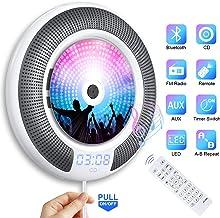 Gueray Lecteur CD Portable Bluetooth Mural Haut-Parleur HiFi Intégré Lecteur CD Montage..