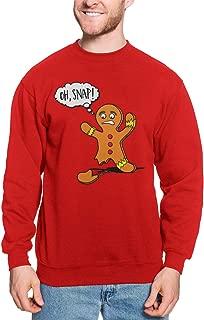 Oh Snap! - Gingerbread Man Cookie Funny Unisex Crewneck Sweatshirt