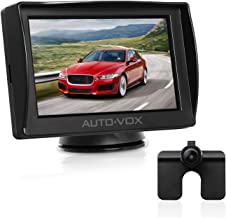AUTO-VOX M1 4.3'' TFT LCD Monitor Backup Camera Kit, Easy One-Wire Installation, IP 68 Waterproof Camera for Truck, Sedan