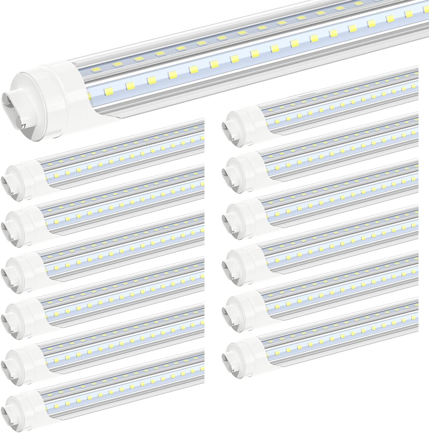 JESLED R17D HO 8FT LED Bulbs - Very popular Rotate V 12 5000K D Shape High quality Pack