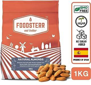Foodsterr Natural Almonds, 1 kg