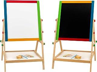 comprar comparacion Legnoland 37326 Star 81- Pizarra de madera 2 en 1 con altura regulable y tizas, 65 cm