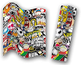 5 PC Sticker Bomb 21700/20700 Battery Wraps Heat Shrink Sticker Sleeve Wrap