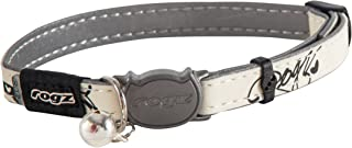 Rogz Glowcat Safeloc Cat Collar, Black Small