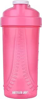 BOTTLED JOY Protein Shaker Bottle, Sports Water Bottle, Shaker Cups For Gym Drinking Bottle Mixer Shake Water Bottles 28oz 650 ml (Hot Pink)