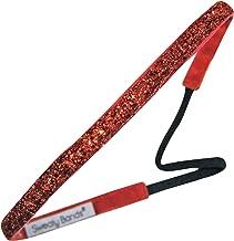Sweaty Bands 001-38-0049-02 Viva Diva 3/8-inch Velvet Lined Fitness and Fashion Headband Red