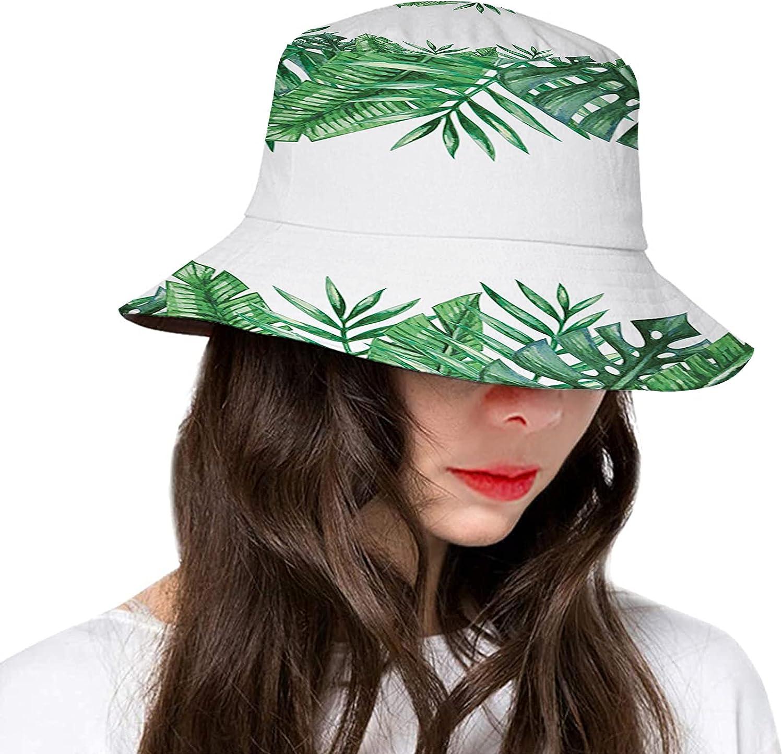 Fashion Bucket Hat for Women Men,Polyester Summer Sun Beach Fishing Cap for Women's Gifts