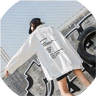 SATOSHI DUN-outwear Harajuku - Chamarra de Tela Vaquera para Mujer, Estilo Holgado