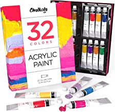 Acrylic Paint Set (32 Colors, 22 ml tubes, 0.74 oz.) for Canvas, Crafts, Wood Painting - Rich Pigment, Non Fading, Vibrant...