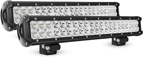 wholesale Nilight - NI06A-126W Light Bar 2PCS 20 Inch 126W LED Lights Spot Flood Combo Led Off Road Driving Lights Led high quality Fog Lights 2021 Jeep Lights Boat Lighting LED Work Light ,2 Years Warranty online