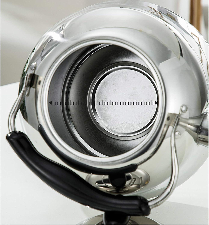 Waterkoker, fluitje theeketel, roestvrijstalen theepot met hittebestendig ergonomisch handvat, geschikt voor kookplaat, grote capaciteit 3L-6L (kleur: zilver, maat: Silver