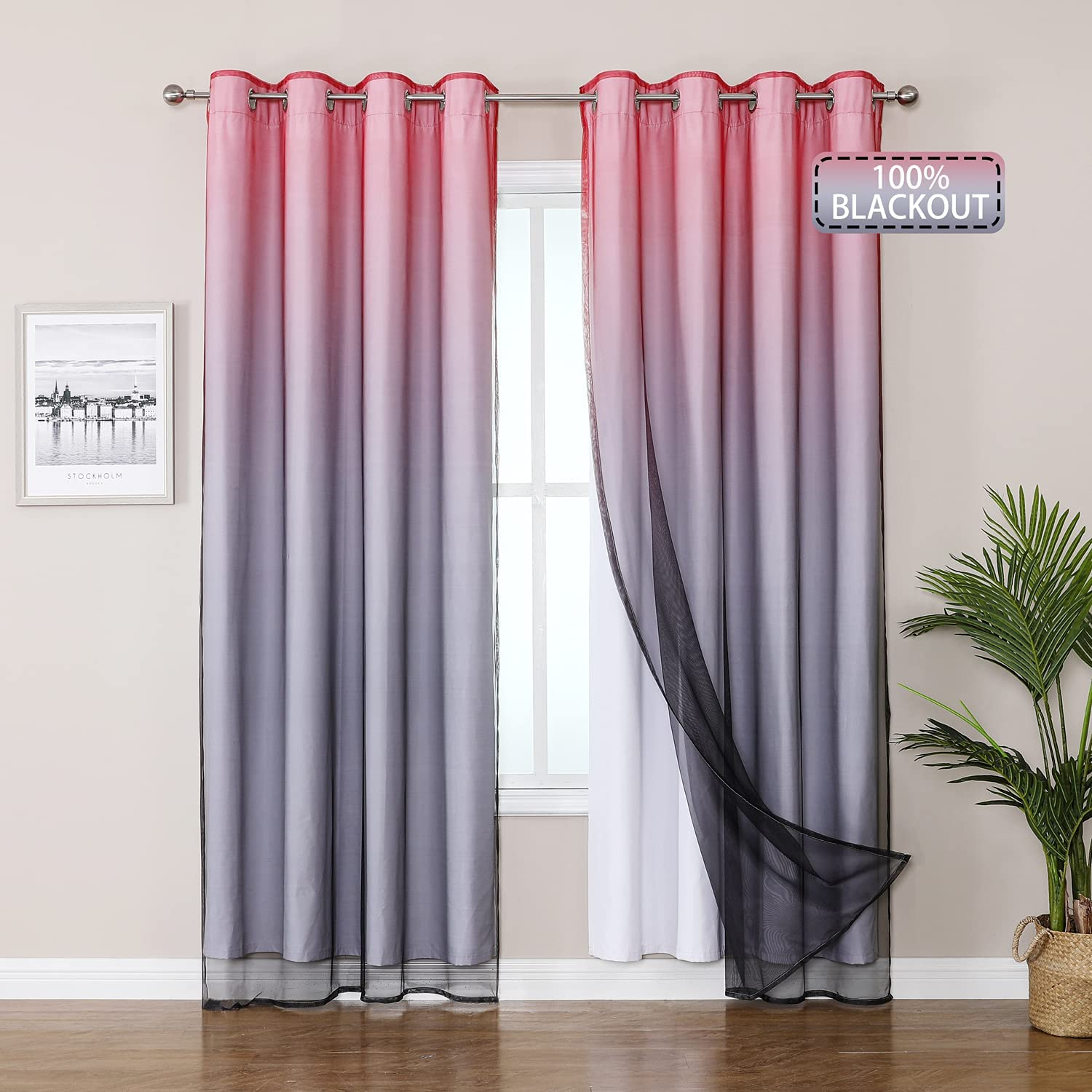 Selectex Mix Outstanding and Match Curtain - Curtains Max 60% OFF 100% Blackout She with
