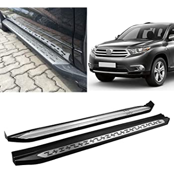 amazon com black side step rails running boards replacement for 2015 2019 highlander aluminum oe style automotive black side step rails running boards replacement for 2015 2019 highlander aluminum oe style