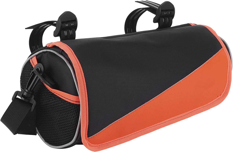 Bicycle Handlebar Inexpensive Bag 3.5L Max 90% OFF Orange L Cycling Black Pack Cylinder