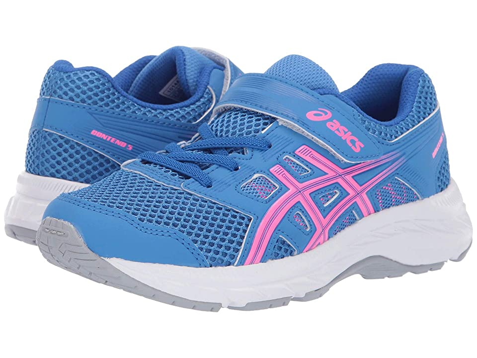 ASICS Kids Gel-Contend PS (Toddler/Little Kid) (Blue Coast/Hot Pink) Girls Shoes