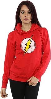 DC Comics Women's Flash Distressed Logo Hoodie