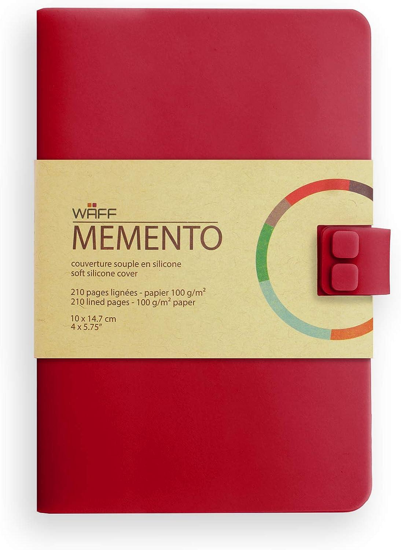 Waff Memento - Cuaderno creativo, 210 páginas, talla M, color rojo vino