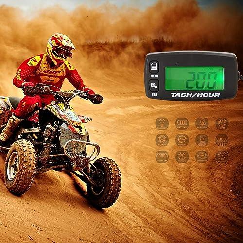 Compteur Moto Compteur horaire inductif de vidange d'huile de voie de tachymètre peut être désactivé Compteur horaire...