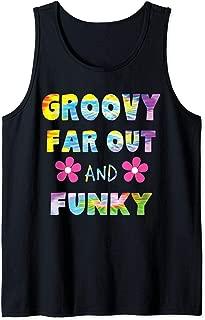 Hippie 60s Retro Tie Dye Groovy, Far Out, Funky Hippies Tank Top