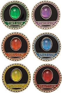 Avengers Infinity Gauntlet Gem Stones Lapel Pin Set Of 6