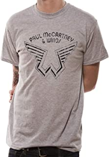 Paul McCartney and Wings Logo Official Tee T-Shirt Mens Unisex