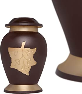 Mini Keepsake Urn • Miniature Funeral Cremation Urn fits Small Amount of Ashes • Autumn Model