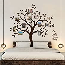Timber Artbox Beautiful Family Tree Wall Decal with Quote - The Only Décor You Need for Living Room & Bedroom