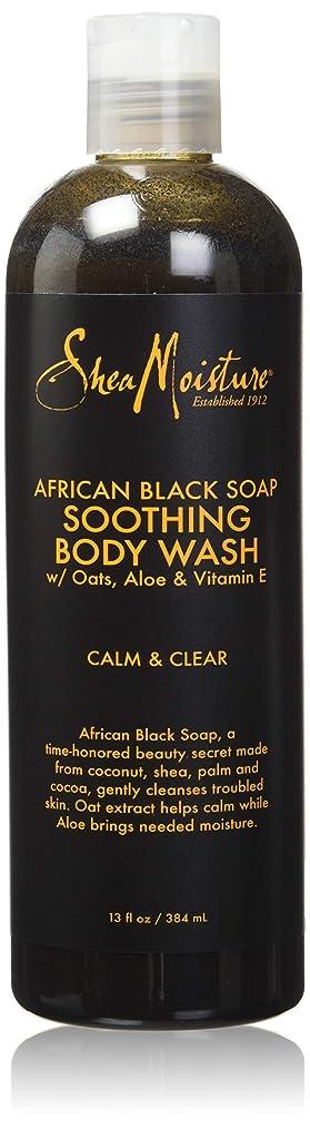 呪われた一掃するサスティーンShea Moisture African Black Soap Body Wash 385 ml by Shea Moisture