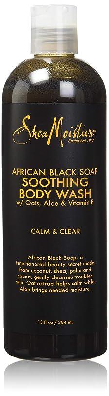 シエスタ空気方法論Shea Moisture African Black Soap Body Wash 385 ml by Shea Moisture