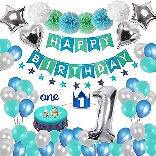 Happy Birthday Banner Geburtstag Ballon f/ür Kind Geburtstag Dekoration Set Happy Birthday Dekoration mit Tissue Papier Pom Poms CHUER Deko Geburtstag