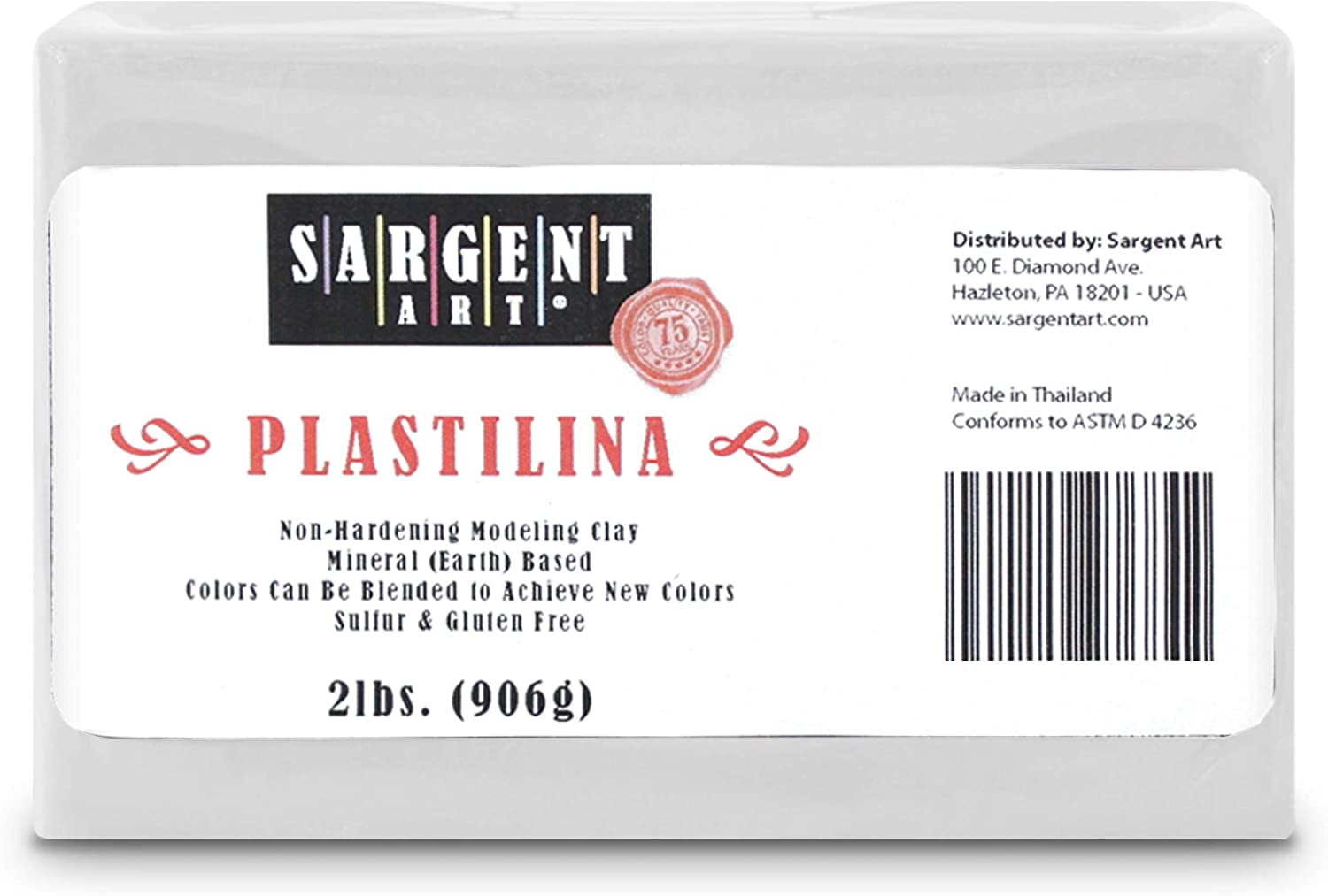Plastilina Modeling Clay 2-lb White Packaging May Vary