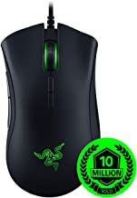 Razer DeathAdder Elite Gaming Mouse: 16,000 DPI Optical Sensor - Chroma RGB Lighting - 7 Programmable Buttons - Mechanical Switches - Rubber Side Grips - Matte Black