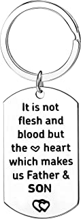 Step Dad Gifts It Is Not Flesh And Blood But The Heart Which Makes Us Father And Son Daughter Keychains