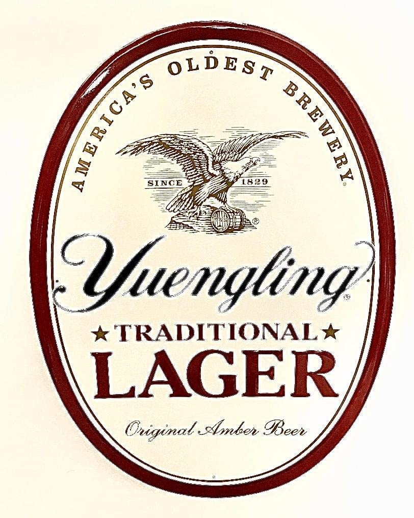 Yuengling Lager Discount is also underway Oval Tin Very popular Sign Tacker