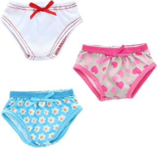 Pink Butterfly Closet Doll Underwear - Beautiful Set of 3 Underwear Panties Fits American Girl Dolls and Other 18 inches Dolls