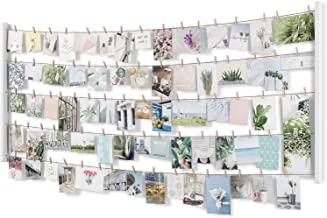 مجموعة إطارات الصور ومبرا هانغ IT لتزيين الجدران لالتقاط الصور، مقاس 26x60، باللون الأبيض