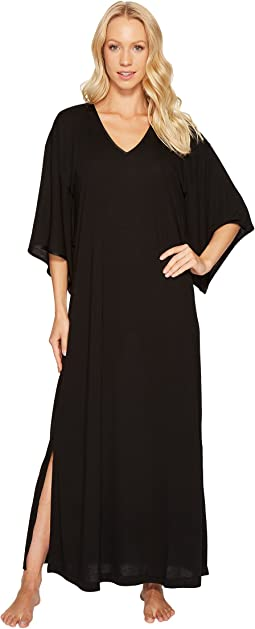 8e685675a3 N by natori plus size blissful forest satin zip caftan + FREE ...