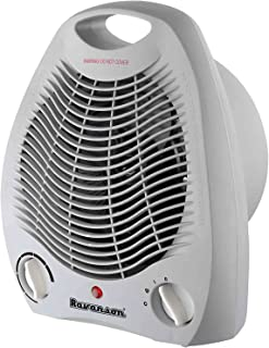 Ravanson FH-105 - Calefactor (Calentador de ventilador, Piso, Gris, Giratorio, 2000 W, 1000 W)