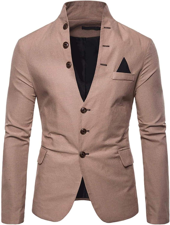 Men's Casual Lightweight V-Neck Suit Blazer Jackets Sports Coats