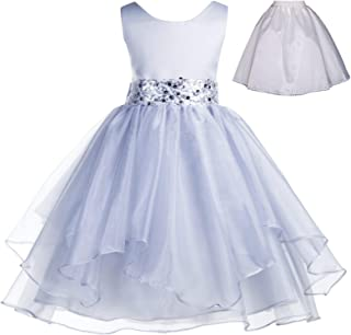 5749dfdc27b ekidsbridal Wedding Ruffles Organza Flower Girl Dress Sequin Toddler  Pageant Free Petticoat 012s