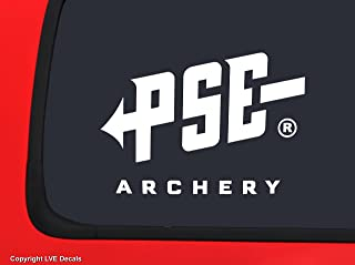 PSE Archery Logo White Bowhunting window decal sticker