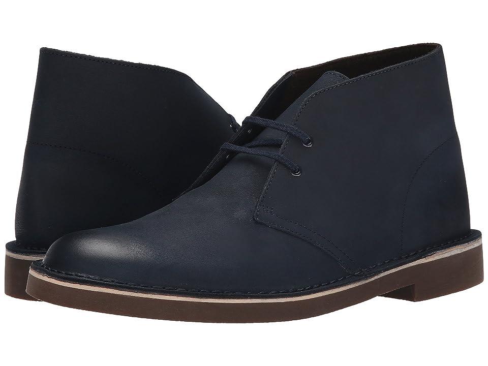 Clarks Bushacre 2 (Navy Leather) Men