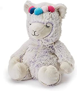 Warmies Plush Heat Up Microwavable Soft Cuddly Toys with A Lavender Scent, Marshmallow Llama