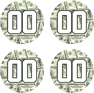 Custom Baseball Bat Knob Decal Sticker Set - 100 Dollar Bill Money Decal