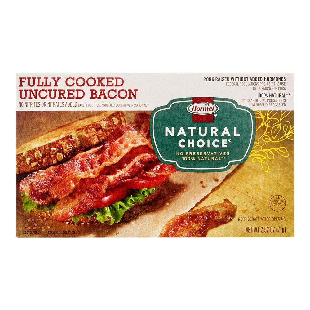 Hormel Natural Choice Fully Cooked 2021 autumn and winter new Uncured 2.52 Bacon Ounce Ranking TOP13