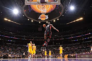 Kopoo James Dunk Poster, Lakers Behind Backboard View Poster, 12