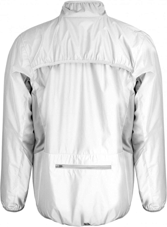 Coole-Fun-T-Shirts High Visible Laufjacke Neonweiss ohne Druck XXS - 4XL Jogging Laufen Damen und Herren hchste Sichtbarkeit HI-VIZ Reflectex Nachleuchtend