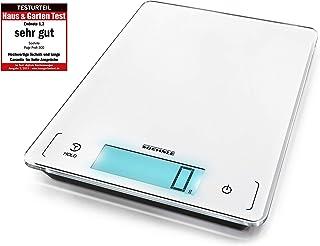 Redmoo Balanza Cocina 5kg // 11 lbs Bascula Precision 1g Blanco Peso Cocina Digital con Pantalla LCD Ideal para Pesar Alimentos de Recetas