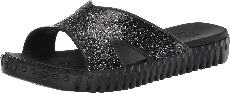 latest Skechers Women's Foamies Sepulveda-High Class Sandal Manufacturer regenerated product Blac Black