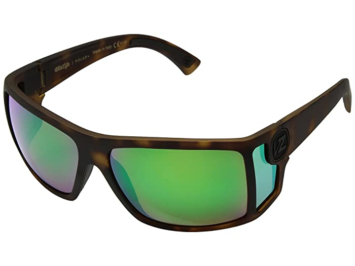 VonZipper Checko Polar (Tortoise Satin/Wild Vintage Grey Polar) Athletic Performance Sport Sunglasses